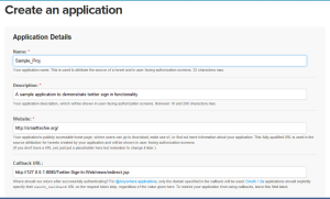 Create an application - Twitter Developers