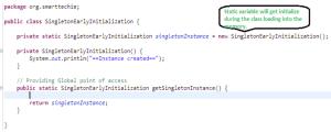Singleton early initialization
