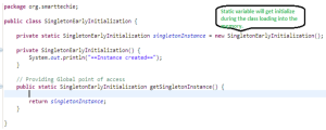 Singleton early initialization