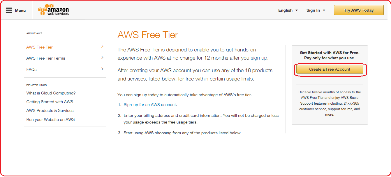 Do you want to explore Amazon Web Services for free? Here it