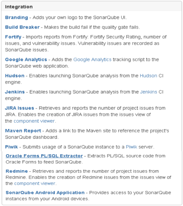 SonarQube Integrations