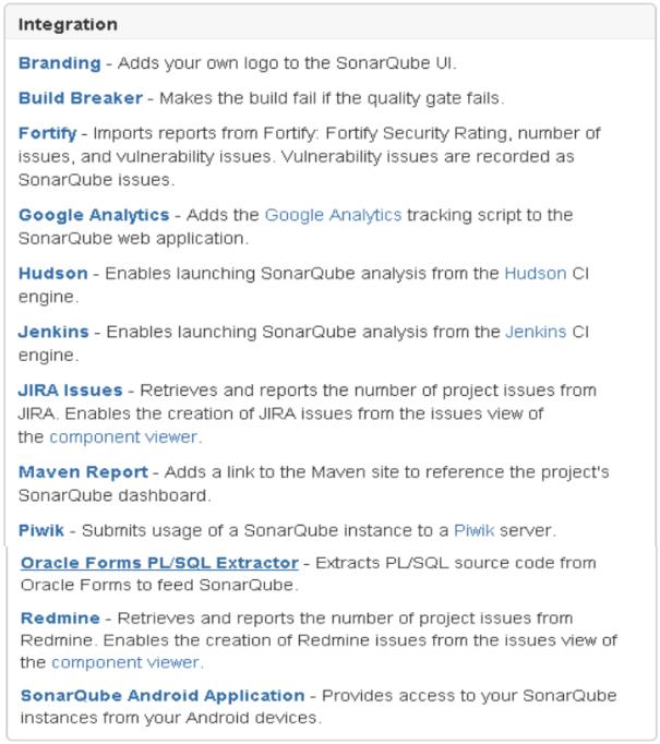 SonarQube Integrations