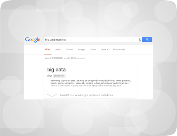 Big Data Google Meaning