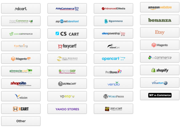 supported commerce platforms